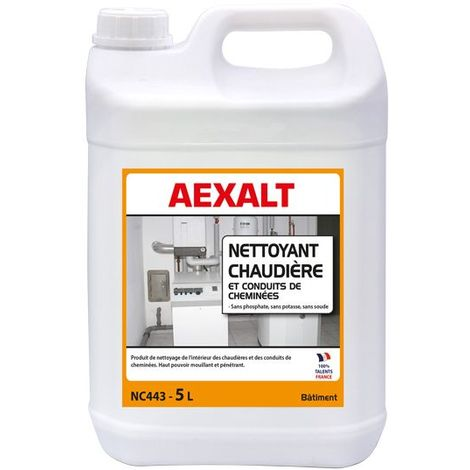 Aexalt - Bidon de 5 L nettoyant chaudière et conduits de cheminées