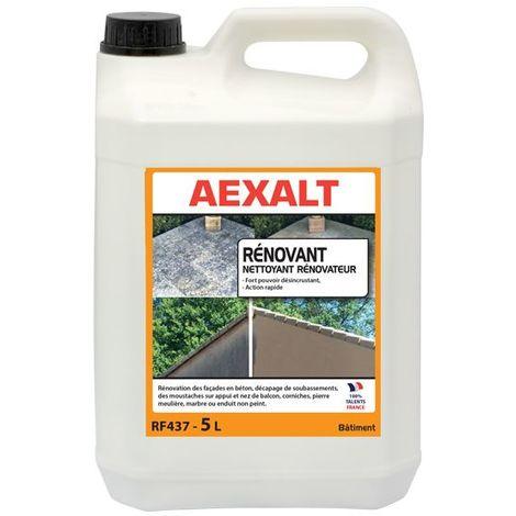 Aexalt - Bidon de 5 L nettoyant rénovateur algicide surpuissant NET'FACADE
