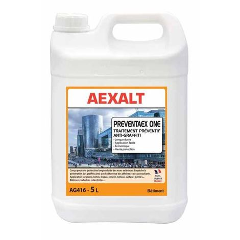 Aexalt - Bidon de 5 L Traitement préventif anti-graffiti PREVENTAEX ONE