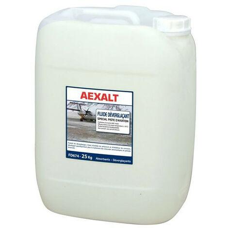 Aexalt - Fluide déverglaçant spécial piste d'aviation 20 L prêt à l'emploi