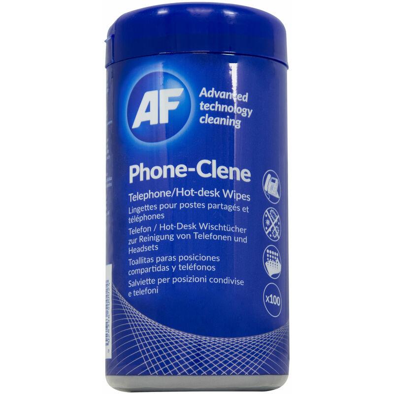 Image of PHC100T Phone-Clene Telephone Hygiene Wipes - Tub Of 100 - AF