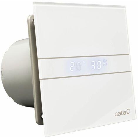 Affichage de la température de l'hygrostat blanc Cata hotte salle de bains en verre ventilateur de 100mm