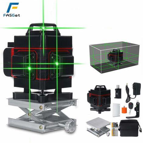 Affichage numérique horizontal et vertical de niveau laser de machine de laser de lumière verte 16Line rouge Prise américaine