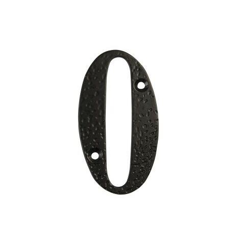 Affichage numéro 0 -m.4 noir 10cm.