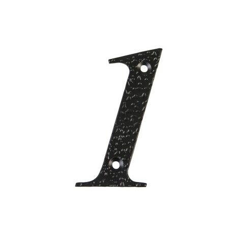 Affichage numéro 1 -m.4 noir 10cm.