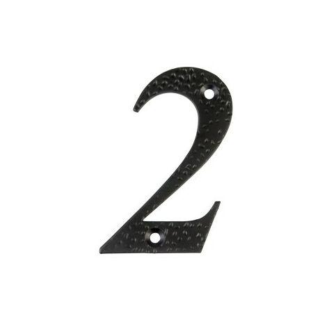 Affichage numéro 2 -m.4 noir 10cm.