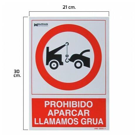 Affiche interdite parking llamamos grua 30x21