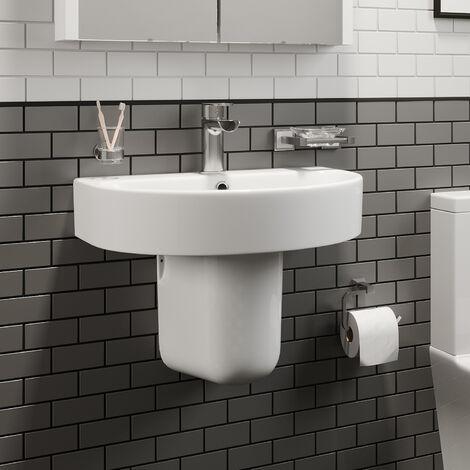 Affine Bordeaux Semi Pedestal Bathroom Sink