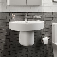 Affine Bordeaux Semi Pedestal Bathroom Sink