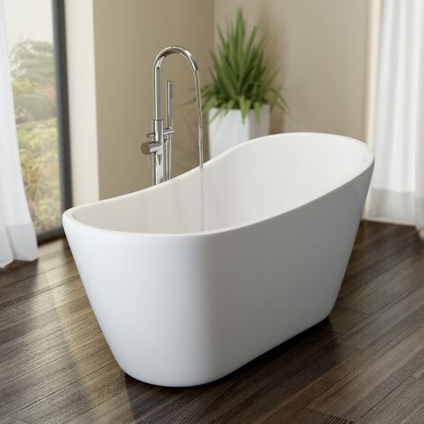 Affine Corbeaux Freestanding Bath 1660mm with Built-In Waste