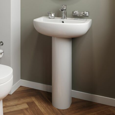 Affine Oceane Full Pedestal Bathroom Sink