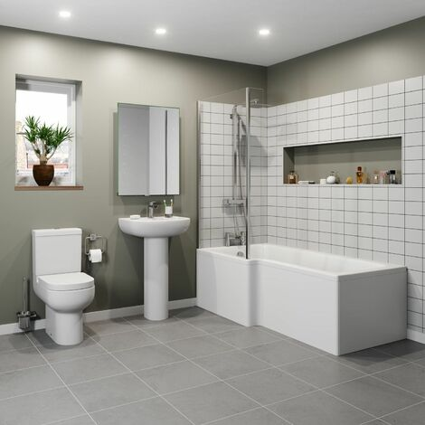 Affine Oceane L Bathroom Suite - Left Hand