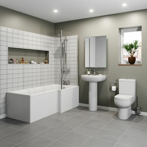 Affine Oceane L Bathroom Suite - Right Hand