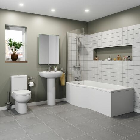 Affine Oceane P Bathroom Suite - Left Hand