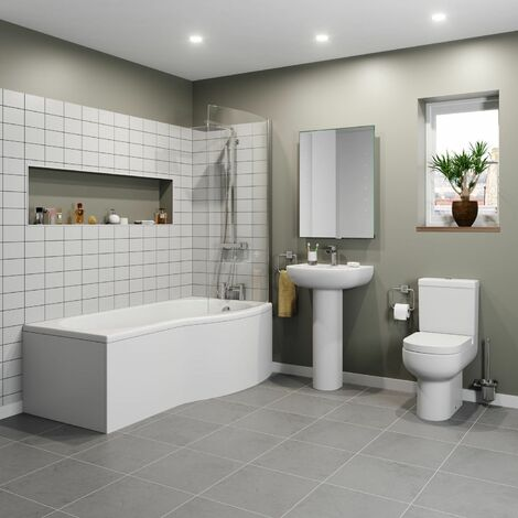 Affine Oceane P Bathroom Suite - Right Hand