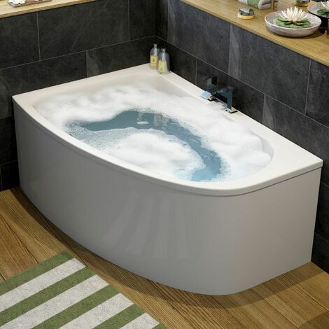 Affine Operette Corner Bath Left Hand with Panel