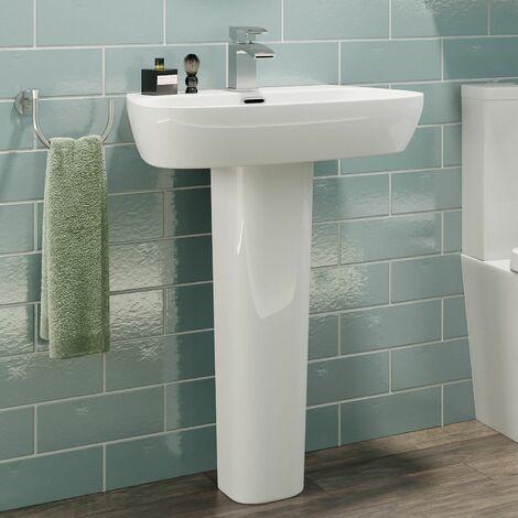 Affine Toulon Full Pedestal Bathroom Sink