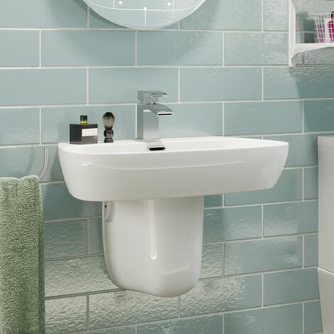 Affine Toulon Semi Pedestal Bathroom Sink