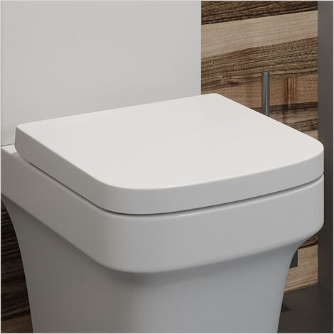 Affine Vienne Soft Close Square Toilet Seat