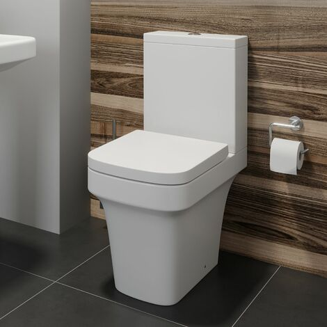 Affine Vienne Space Saving Close Coupled Toilet & Soft Close Seat