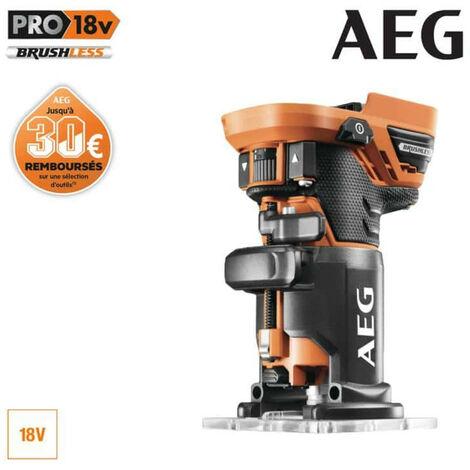 Affleureuse Brushless AEG 18 V sans batterie ni chargeur BOF18BL-0