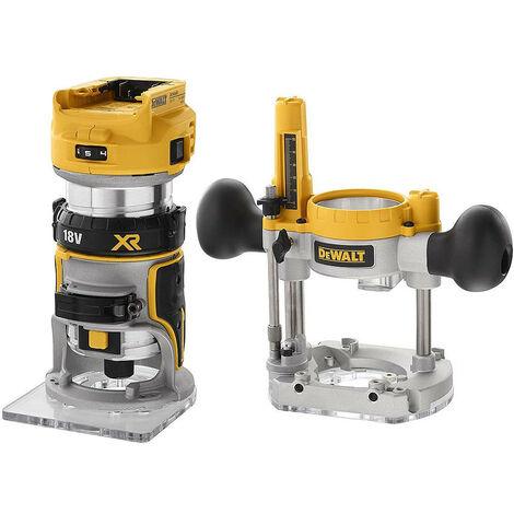 Affleureuse-défonceuse XR 18V BL 6-8 mm DEWALT - en coffret - sans batterie ni chargeur - DCW604NT-QW