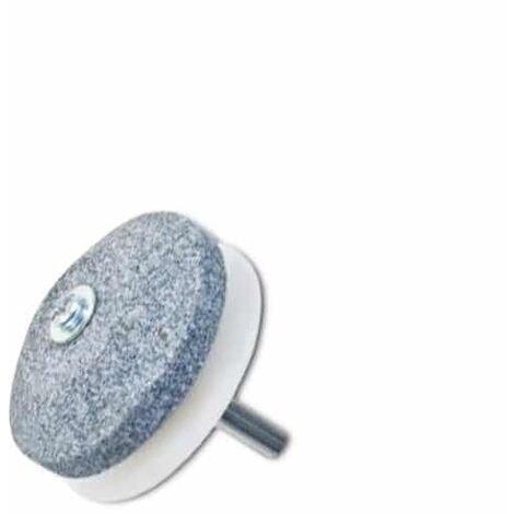 Affûteur pour lame de tondeuse avec guide en nylon - Adaptable sur toutes les perceuses