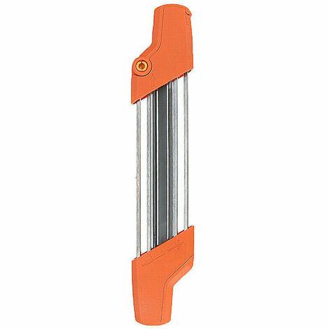 Afilador de Cadena Manual, Lima de Afilado de Cadena, Naranja, 4.8mm