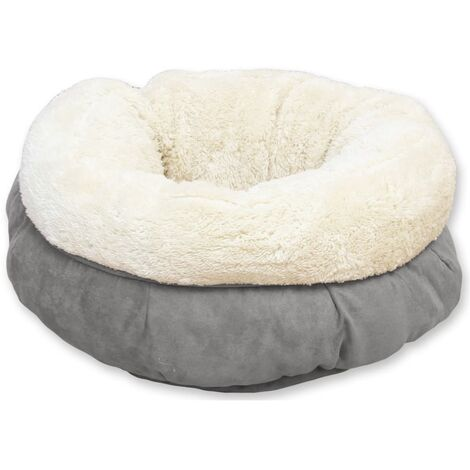 afp Dog/Cat Bed Lambswool Donut Grey