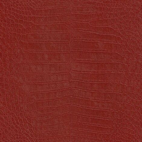 African Queen Rasch Faux Crocodile Skin Wallpaper Animal Print Textured Red
