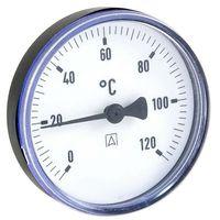 AFRISO Bimetall-Thermometer - Gehäuse ABS-Kunststoff schwarz (Ø 63 mm), 1/2'' x 40 mm, Skala 0-120 °C, SCHWARZ