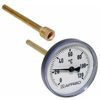 "Afriso Bimetall Thermometer mit Tauchhülse 1/2"" AG Ø 80mm Länge 150mm 63717"