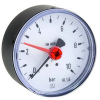 AFRISO Manometer RF 63 - Anschluss axial 1/4'' AG, Anzeige 0-10 bar, Solar geeignet