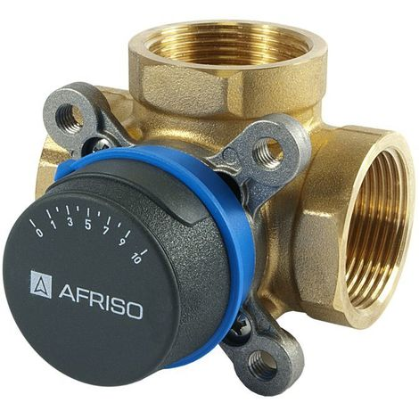 """Afriso Quality 3-way 1"""" BSP FEMALE Mixing Valve Valves For Heating And Cooling Systems ARV"""