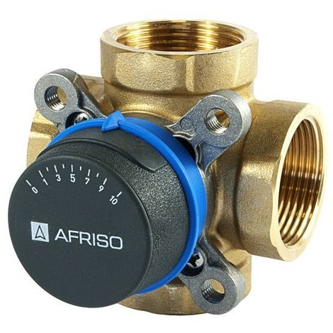 """Afriso Quality 4-way 1 1/2"""" BSP FEMALE Mixing Valve Valves For Heating And Cooling Systems ARV"""