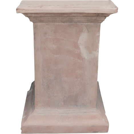 Aged Tuscan terracotta made W44xDP44xH61 cm sized base