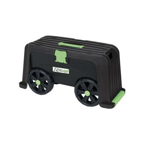 Agenouilloir - banc - coffre pour outils de jardin sur roulettes