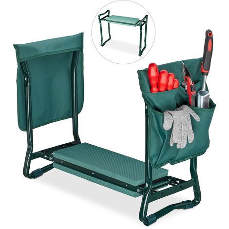 """main image of """"Agenouilloir,coussin moelleux, 2 sacs,pliable, aide genou, travail jardin, jusqu'à 150 kg,HlP 50x60x27,5cmvert"""""""