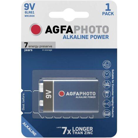 AgfaPhoto 6LR61 9V Block-Batterie Alkali-Mangan 9V X37199