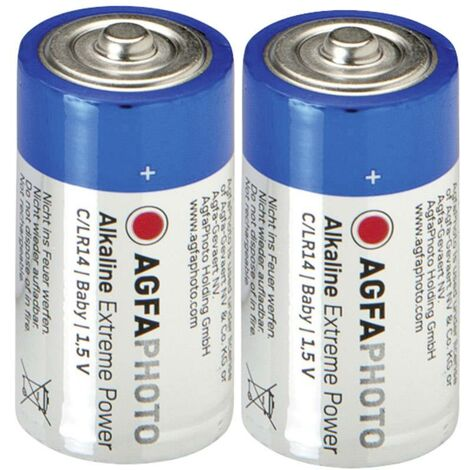 AgfaPhoto LR14 Baby (C)-Batterie Alkali-Mangan 1.5V 2St. X37192