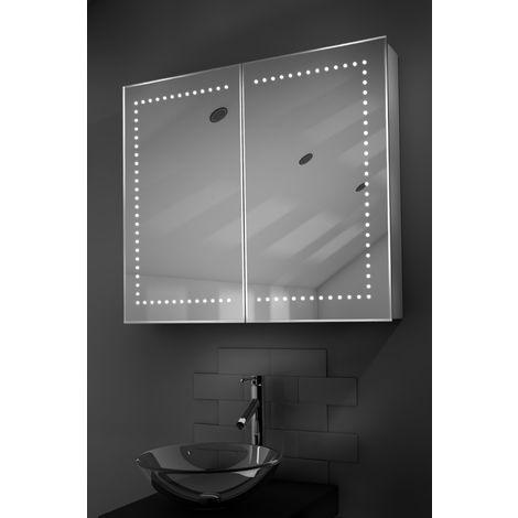 Agna LED Bathroom Cabinet with Demister Pad, Sensor & Shaver k365