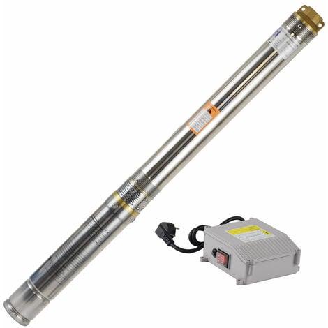 Agora-Tec® 3 Zoll Brunnenpumpe Tiefbrunnenpumpe 550W 15m Kabel