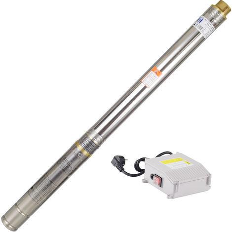 Agora-Tec® 3 Zoll Brunnenpumpe Tiefbrunnenpumpe 550W-3.8, 15m Kabel