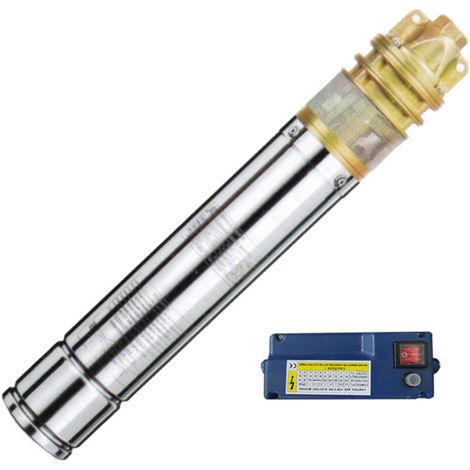Agora-Tec® 3 Zoll Brunnenpumpe Tiefbrunnenpumpe 750W-1 15m Kabel