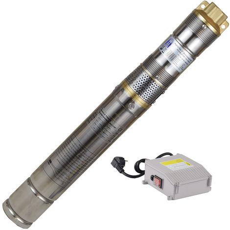 Agora-Tec® 3 Zoll Brunnenpumpe Tiefbrunnenpumpe Schraubenpumpe 370W-screw 15m Kabel sandverträglich-sandresistent
