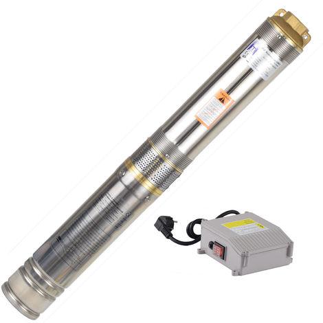 Agora-Tec® 4 Zoll Brunnenpumpe Tiefbrunnenpumpe 550W-4 15m Kabel
