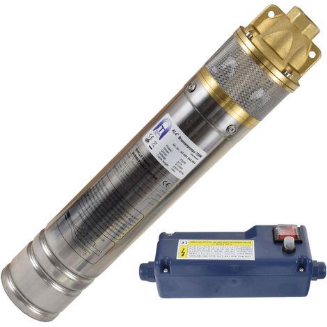 Agora-Tec® 4 Zoll Brunnenpumpe Tiefbrunnenpumpe 750W 15m Kabel