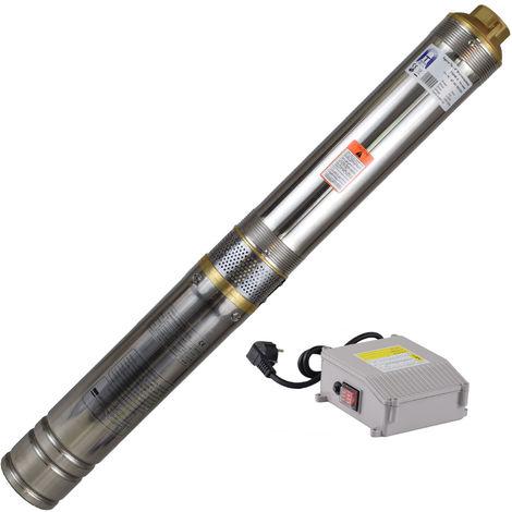Agora-Tec® 4 Zoll Brunnenpumpe Tiefbrunnenpumpe 750W-4, 15m Kabel