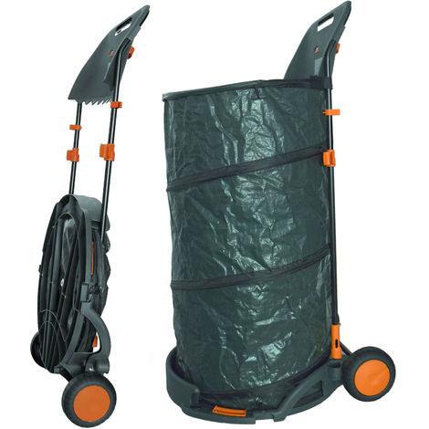 Agora-Tec® Laubsack / Gartensack 160L fahrbar