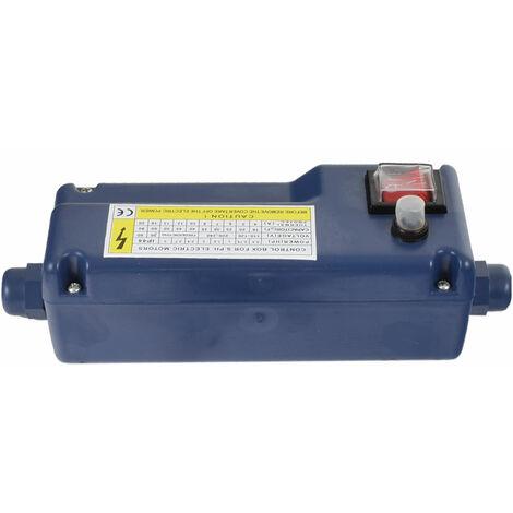 Agora-Tec® Motorschutz schalter box blau 40µF 11A für Tiefbrunnenpumpe